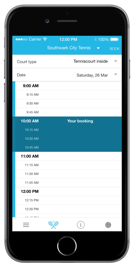 Tennis Planner Mobile Reservation App